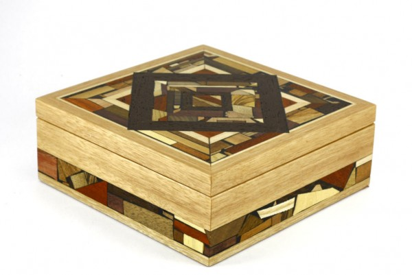 Wood & Mosaic Box-Wooden Jewelry Box18-Keepsake Box-BOX-18-Light-O