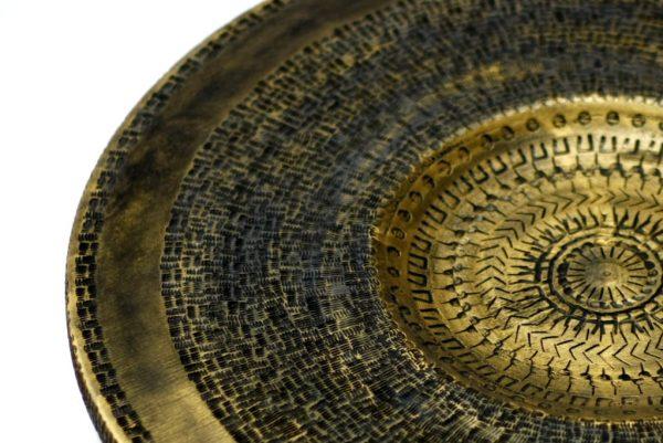 Detail - Black & Gold  Platter-Wood Home Decor-Wall Art