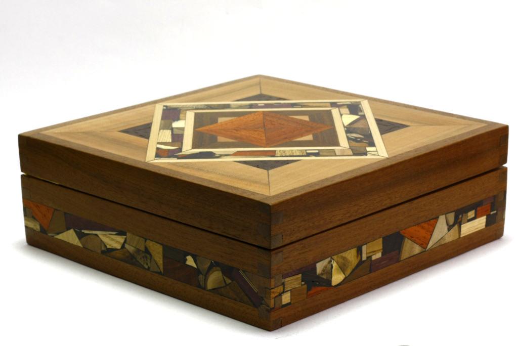 mosaic tea box tea chest decorative wood tea boxes tea mf - Decorative Wooden Boxes