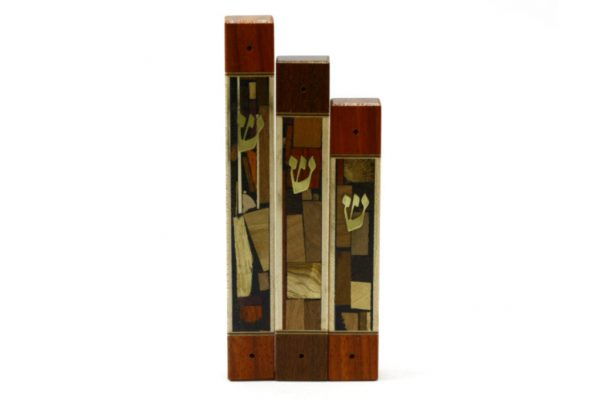 Mosaic Wide Mezuzah Case-Wooden Mezuzah Case-Jewish Gift-3 Sizes-MEZ-MW-allsizes-O-RWL-MG_3603