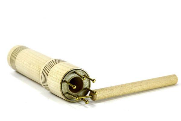 """Oversized Designer Knitting Spool-Large Holed Knitting Nancy-Educational Toy-5/8"""" hole-6 prongs-maple wood-KNITSP-.625-6-map-RWL-MG_3678"""