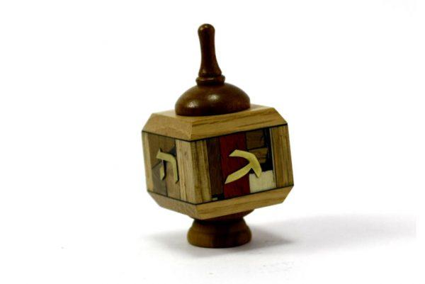 Wooden Dreidels-Collectors Dreidles-Hanukkah Dreidels-DRE-M-O-oak-RWL-MG_3587