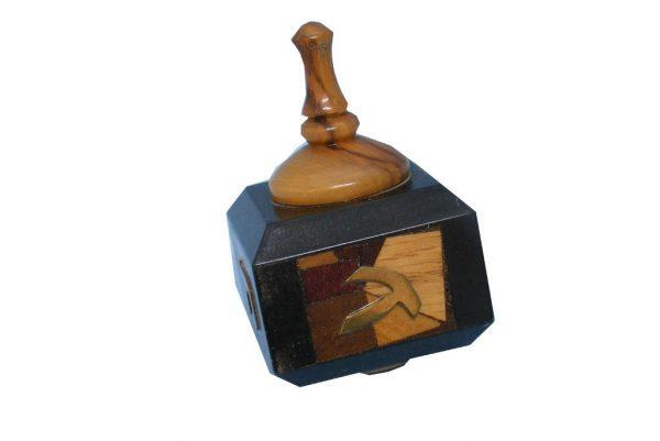 Wooden Dreidels- Dreidel Collections-Unique Mosaic Dreidels-DRE-M-O-O-RW-0421tryfirst0303