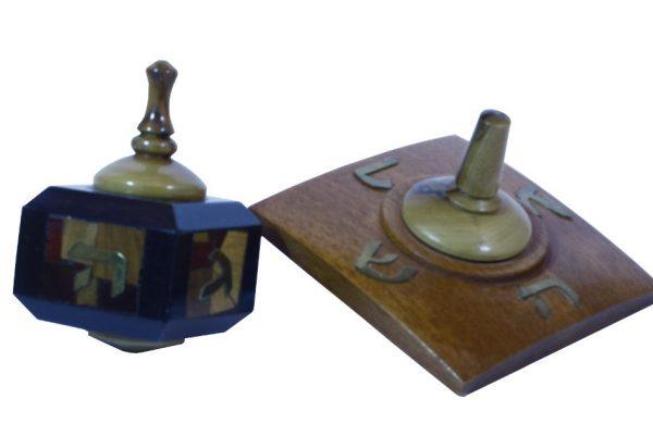 Wooden Dreidles-Collector Hanukkah Toy-Multi Wood Mosaic Dreidel-DRE-M-O-O-DRE-F-O-O-RWC-MG_0851.jpg