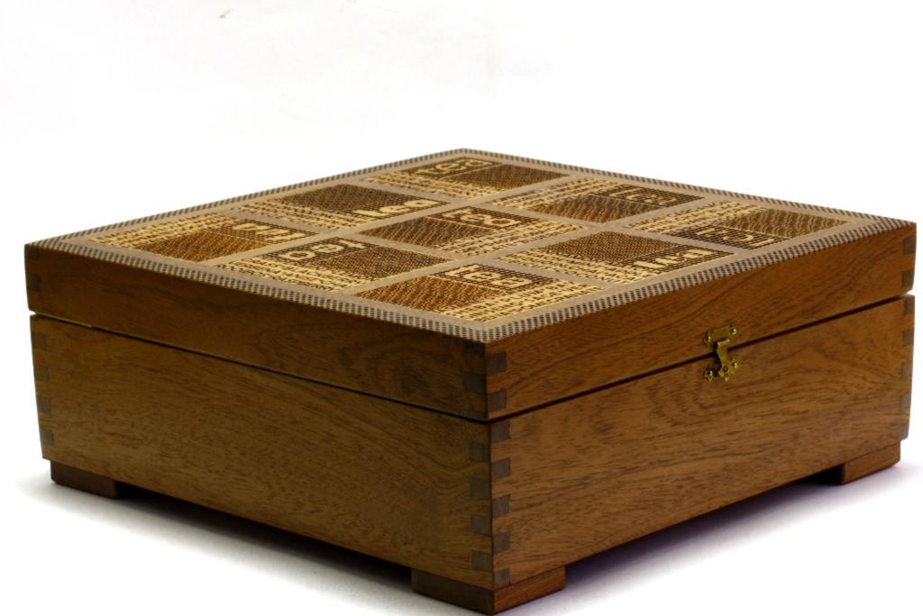 xl wooden tea box deep tea chest wood - Decorative Wooden Boxes