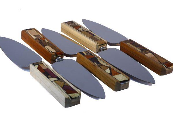 Mosaic Cake Knife- Decorative Wooden Mosaic Handles- Pie Server-Many-CAK-M-O-O-RWC-MG_0865