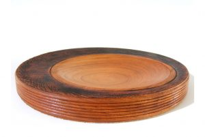Chunky Wood Bowl-Shallow Wooden Platter-Decorative Wooden Bowl-BOWL-Shallow-L1-jatoba1-RW-DSCF0034