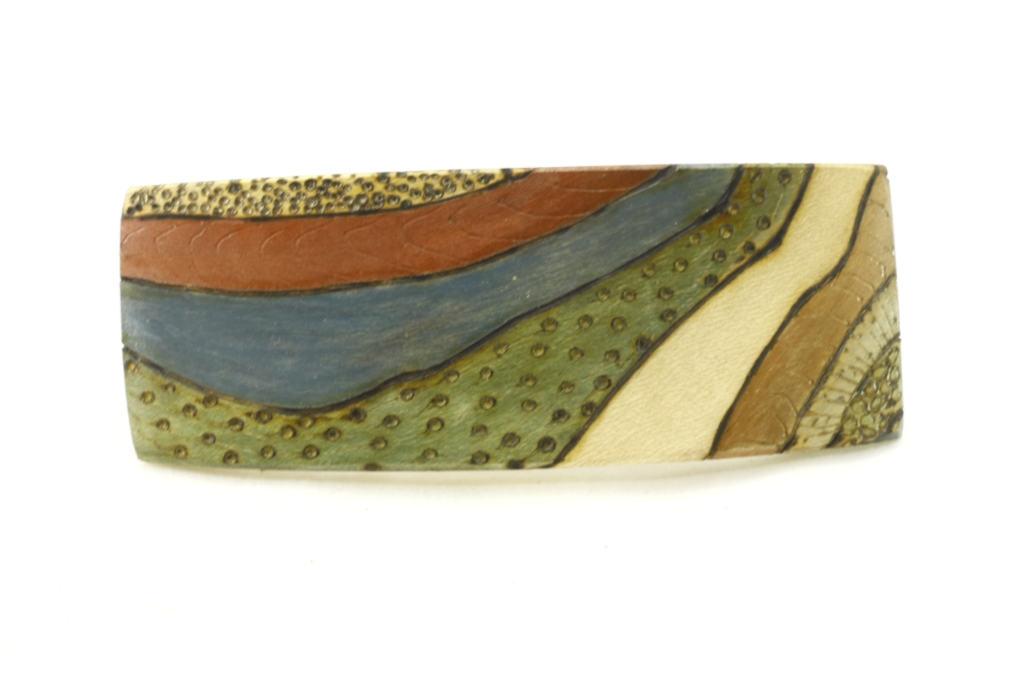 Decorated Wooden Barrette-Art Deco Hair Clip-Colored Barrette-BARRETTE-ArtDeco-6-maple-LCR-MG_4187