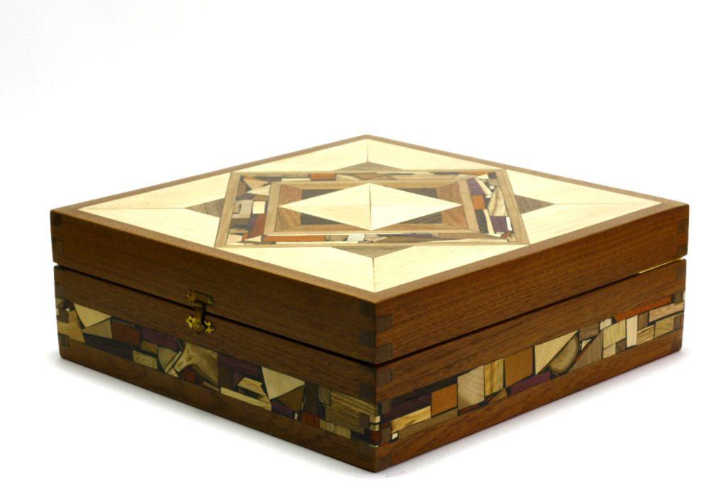 mosaic tea box tea bag selection box decorative wooden tea box