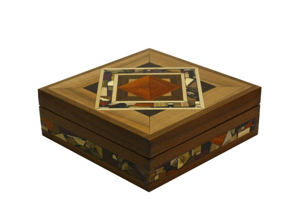 Mosaic Tea Box Decorative Tea Boxes Wooden Tea