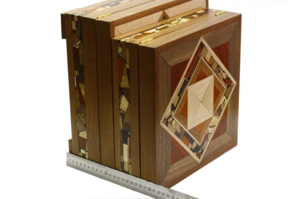 Mosaic Tea Box-Wooden Tea Box-Decorative Wood Tea Storage Box-TEA-MF-9-sap-RWL-MG_3776