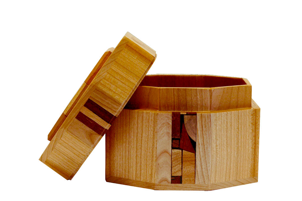 Octagonal Etrog Box-Wooden Judaica-Etr-M4-O-Beech-RLWC-021