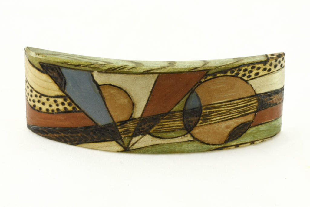 Painted Wood Barrette-Art Deco Barrette-Hair Accessory-BARRETTE-ArtDeco-9-maple-LCR-MG_4211