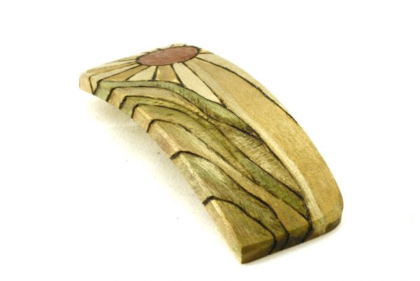 Sunrise Hair Clip-Wooden Barrette-Hair Accessory-BARRETTE-ArtDeco-4-maple-LCR-MG_4181