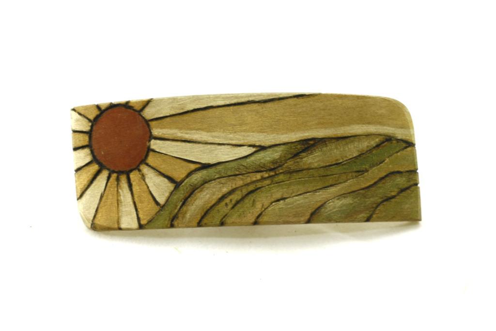 Wooden Barrette-Sunrise-Art Deco Hair Clip-BARRETTE-ArtDeco-4-maple-LCR-MG_4179