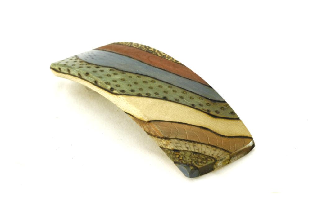 Wooden BoHo-Barrette-Womens Hair Clip- Decorated Barrette-BARRETTE-Art Deco-6-maple-LCR-MG_4190