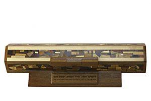 Horizontal Megillah Case-Wooden Megillah Case-Beautiful Wooden Scroll Case-MEG-HOAC-53-6woods-RWCL-MG_4275