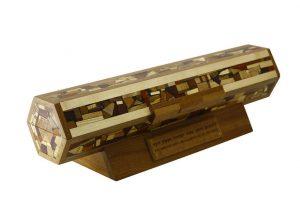 Horizontal Megillah Case with Inscription-Wooden Megillah Case-MEG-HOAC-53-6woods-RWL-MG_4286