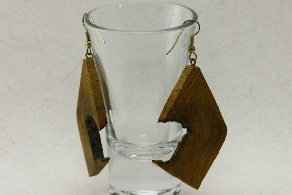 Lightweight Earrings-Oak Face Earrings-Naturally Wood Earrings-E-OakFace-8-oak-RWCL-_MG_4404