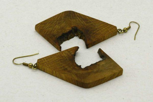 Oak Face Earrings-Lightwieght Wooden Earrings-Naturally Wood Earrings-Wooden Jewelry-E-OakFace-8-Oak-RWCL-_MG_4402