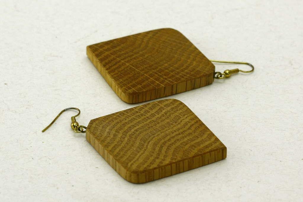 Square Oak Earrings-Jewelry Accessory-Simple Lightweight Earrings_E-SqOak-7.7-oak-RWCL-MG_4390