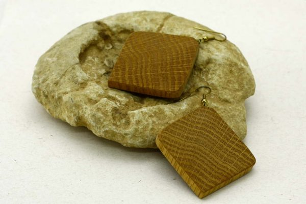 _Wooden Earrings-Square Oak Earring-Natures Own Earring Series-Jewelry Accessory-E-SqOak-7.7-oak-RWCL-MG_4392