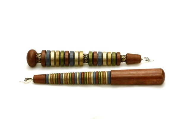 Wooden Torah Pointer-Colorful Yad L'Torah-Painted Wood Yad-Bat Mitzvah Gift-Jewish Gifts-YAD-GP-2-O-RWL-_MG_4000