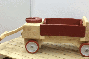 Fisher Price Little Red Riding Wagon Wooden Hack