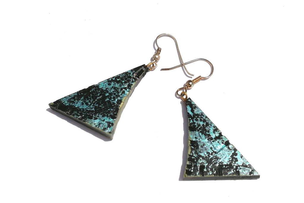 af34a70541ca51 Blue Black Night Wooden Earrings – Lightweight Wood Earrings – Wooden  Jewelry