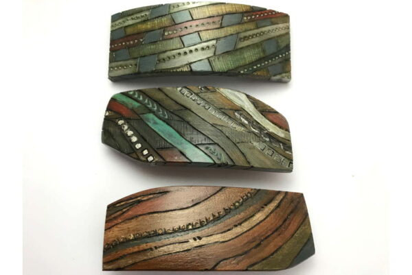 3-Art-Deco-Barrettes-Colorful-Hair-Accessory-Wooden-Barrettes-Hair-Jewelry