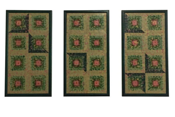 Triptych-Wall-Art-Green-Wooden-Wall-Quilt-Unique-Home-Decor-Custom-Framed-Art-FA-TriptychGreen-56x30-pine-RWBCrT-IMG_0329.jpg