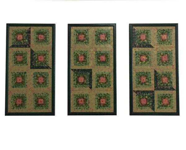 Triptych-Wall-Art-Green-Wooden-Wall-Quilt-Unique-Home-Decor-Custom-Framed-Art-FA-TriptychGreen-56x30-pine-RWBCrT-IMG_0329.jpg